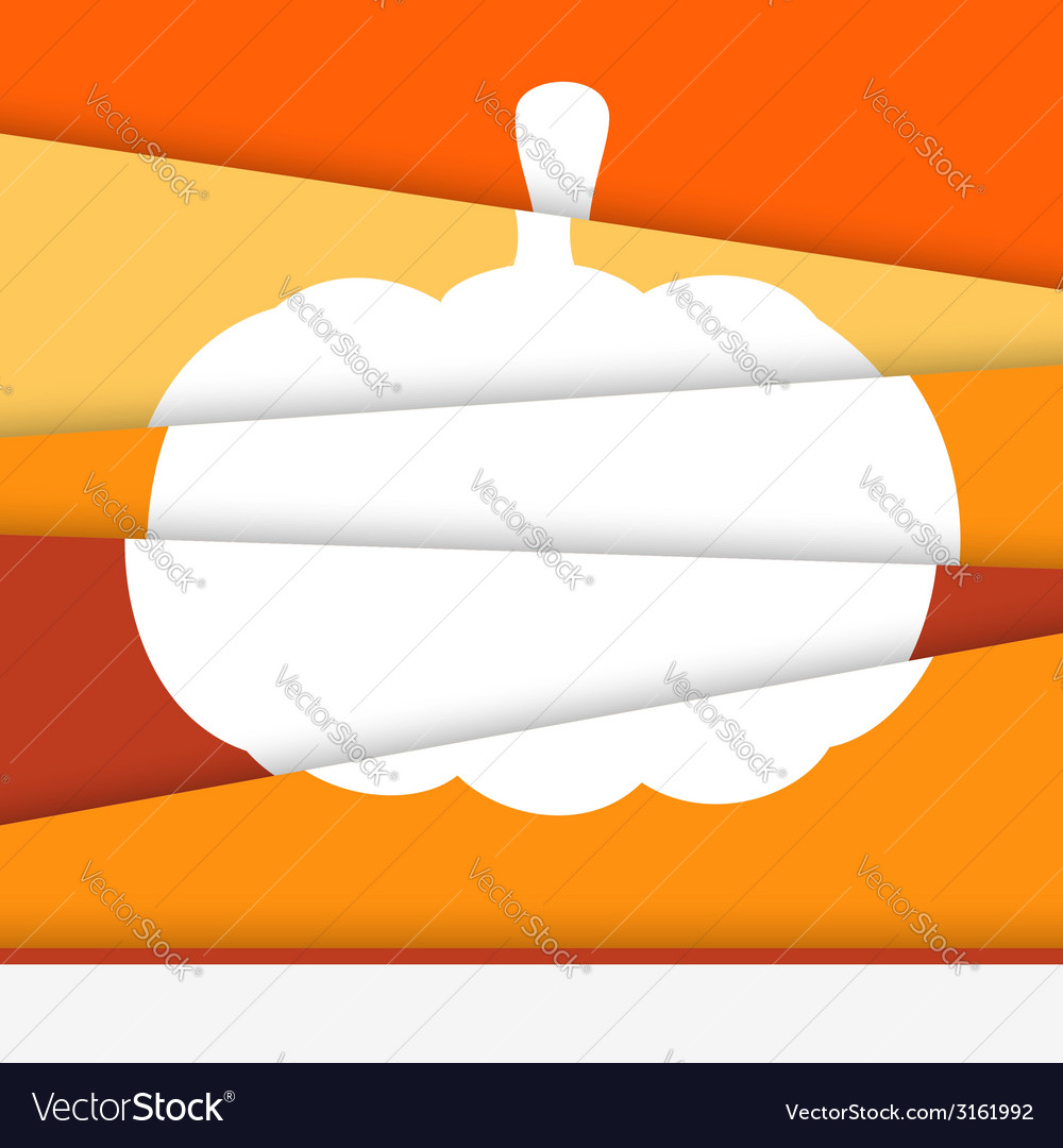 Creative halloween card asymmetric pumpkin formed vector | Price: 1 Credit (USD $1)