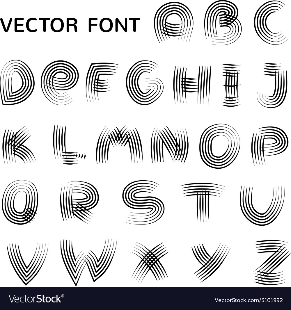 English alphabet in doodle style vector | Price: 1 Credit (USD $1)