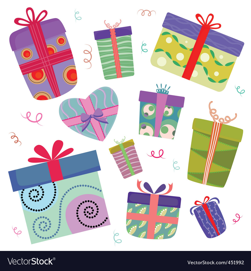 Gift box vector | Price: 1 Credit (USD $1)