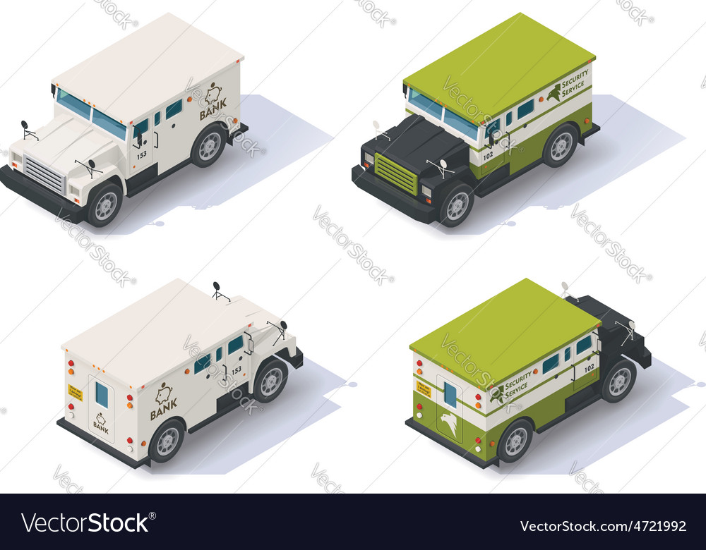 Isometric armored truck vector | Price: 1 Credit (USD $1)