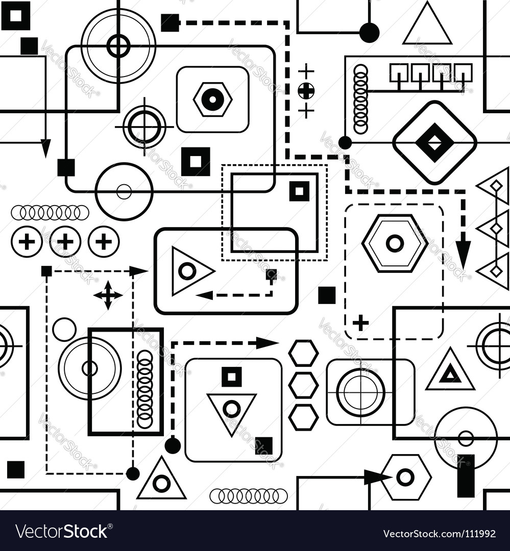 Mechanical seamless pattern vector | Price: 1 Credit (USD $1)