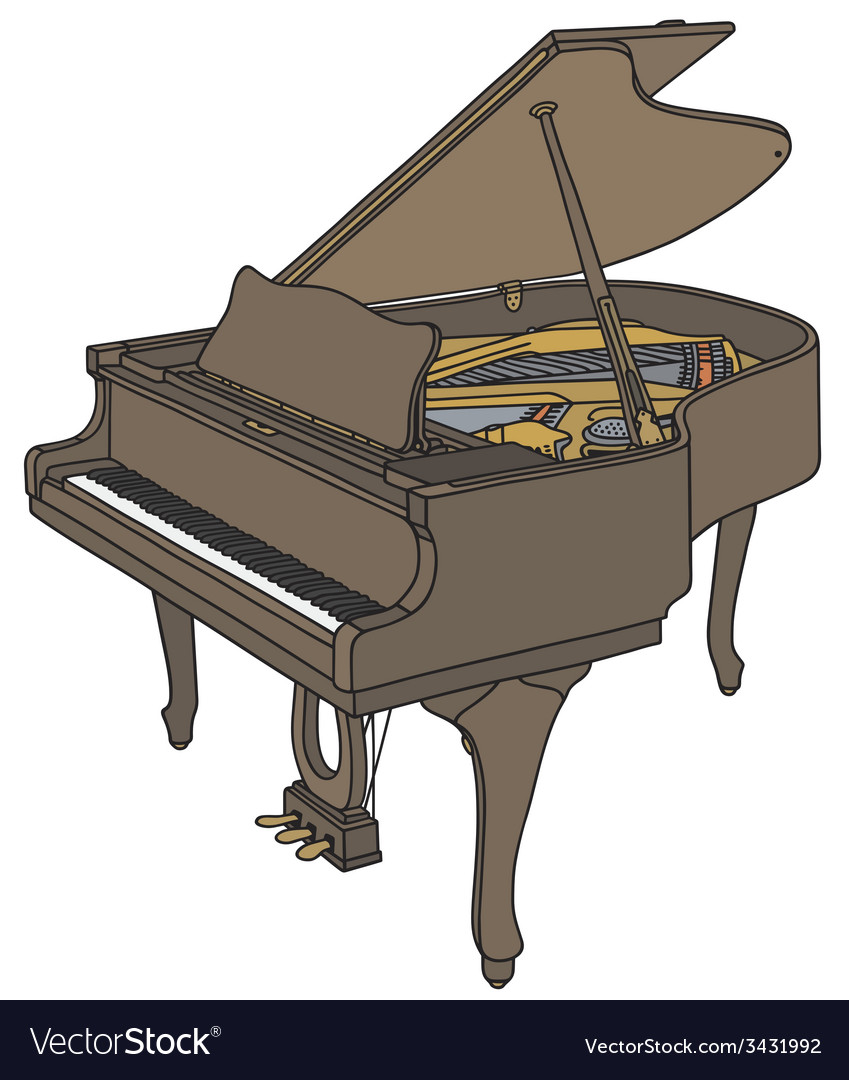 Opened grand piano vector | Price: 1 Credit (USD $1)