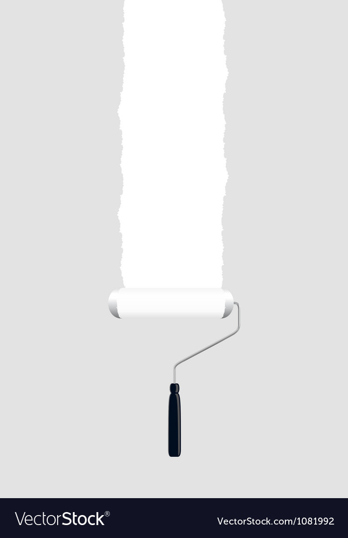 Paint roller white vector | Price: 1 Credit (USD $1)