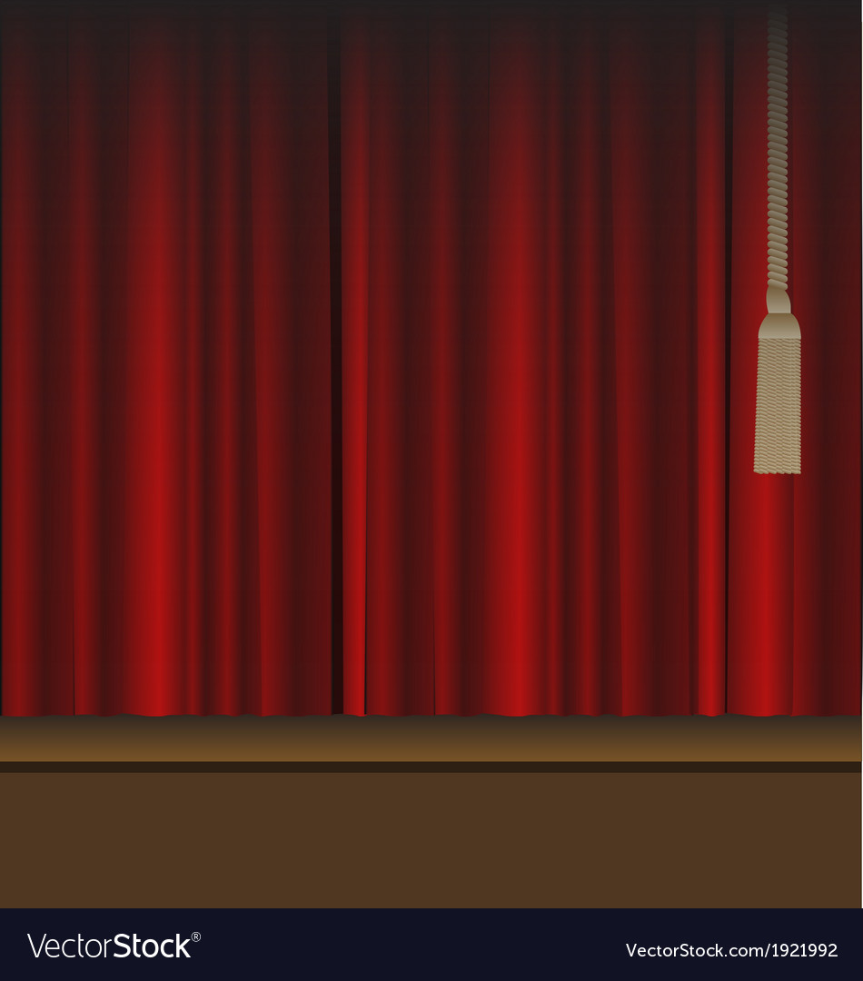 Red curtains to theater stage vector | Price: 1 Credit (USD $1)