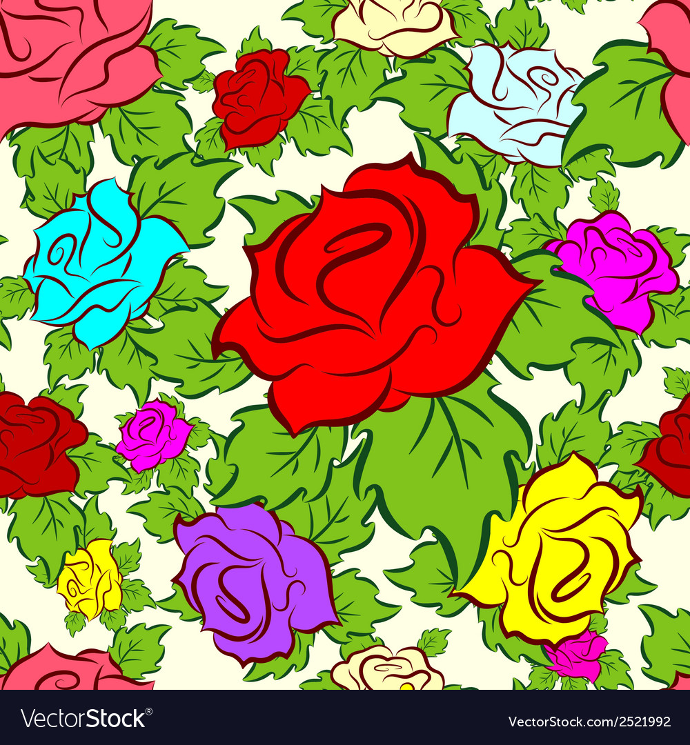 Seamless pattern consisting of flowers vector | Price: 1 Credit (USD $1)