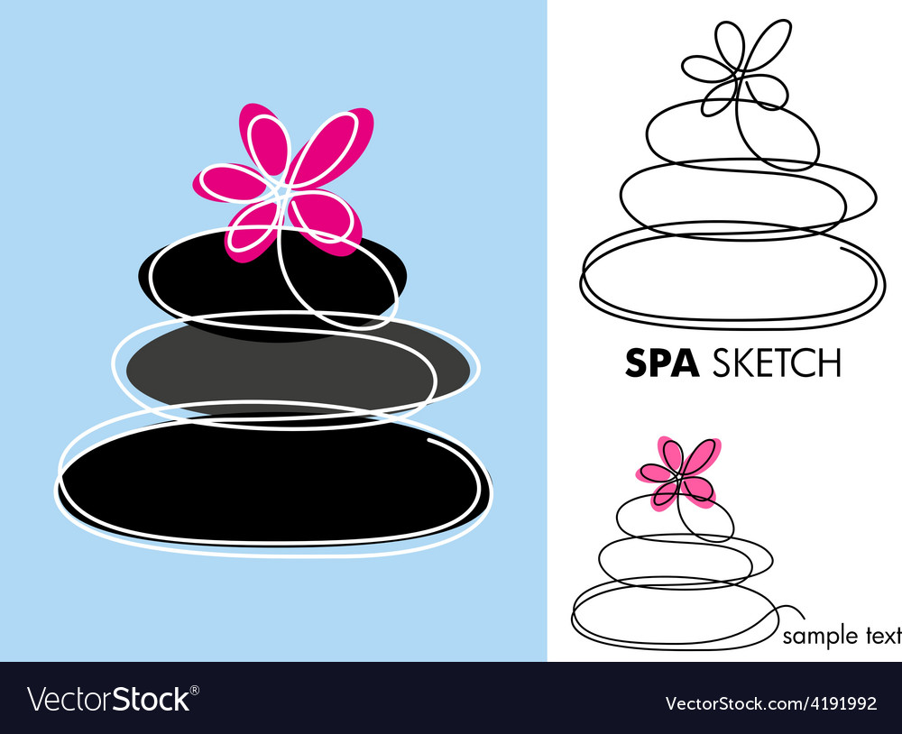 Spa sketch vector | Price: 1 Credit (USD $1)