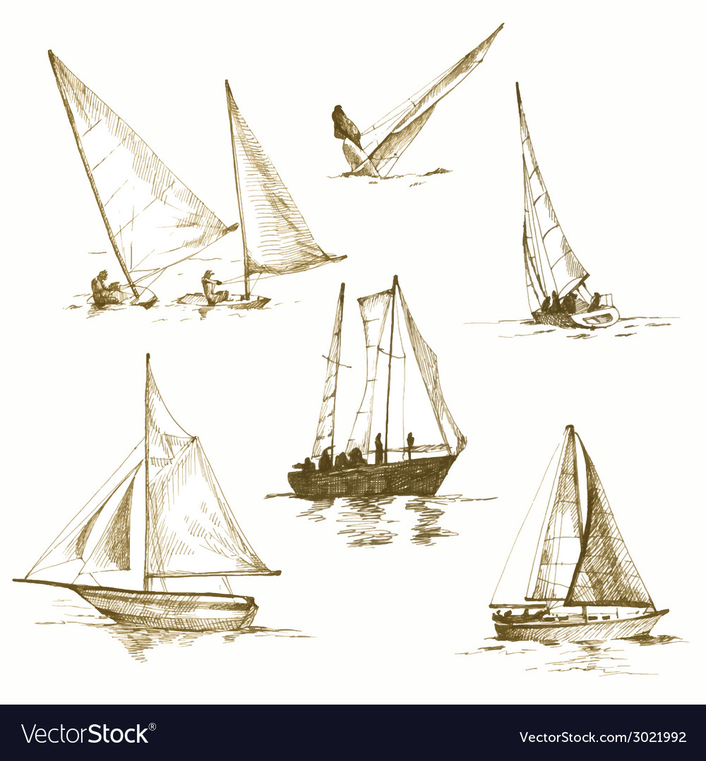 Yachting vector | Price: 1 Credit (USD $1)
