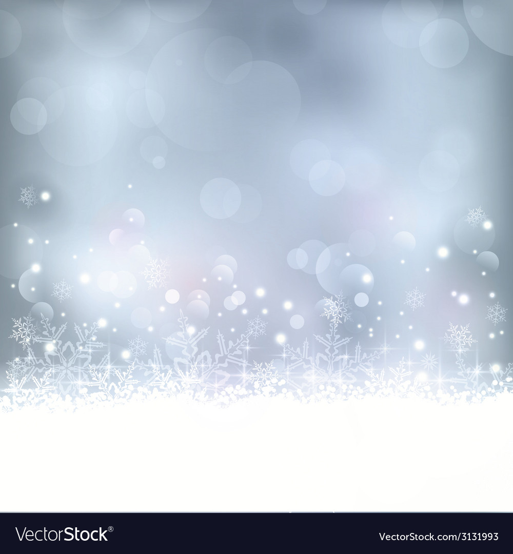 Blue christmas winter background vector | Price: 1 Credit (USD $1)