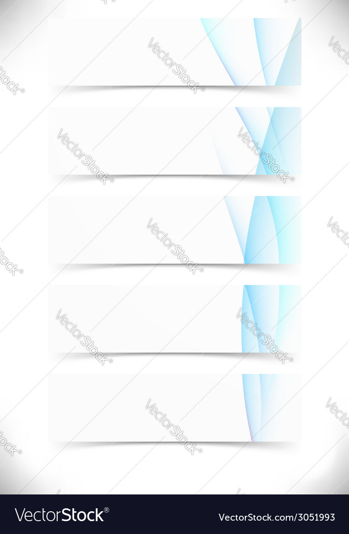 Blue smooth wave lines cards set - web banner vector | Price: 1 Credit (USD $1)