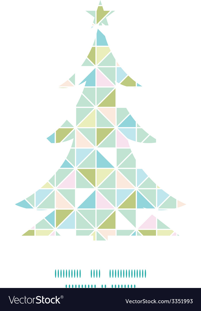 Colorful pastel triangle texture christmas tree vector | Price: 1 Credit (USD $1)