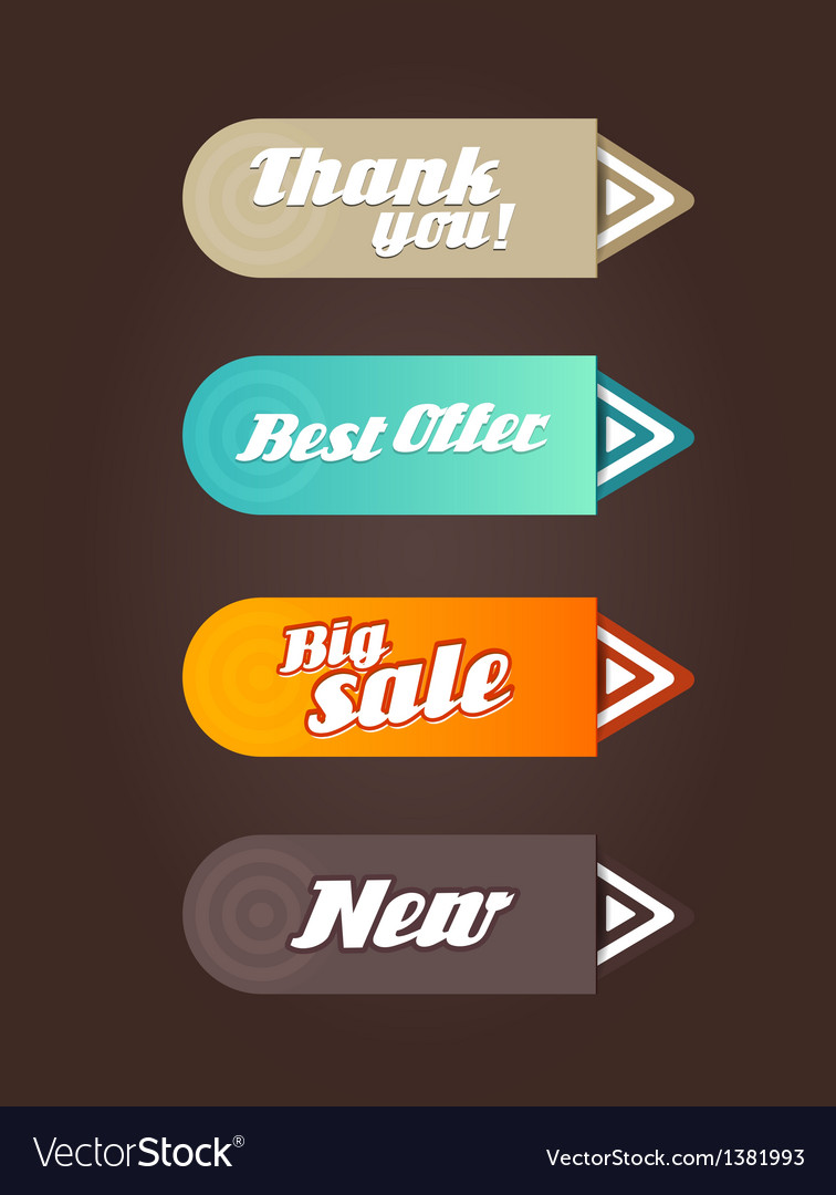 Four colored paper arrows with general text vector   Price: 1 Credit (USD $1)