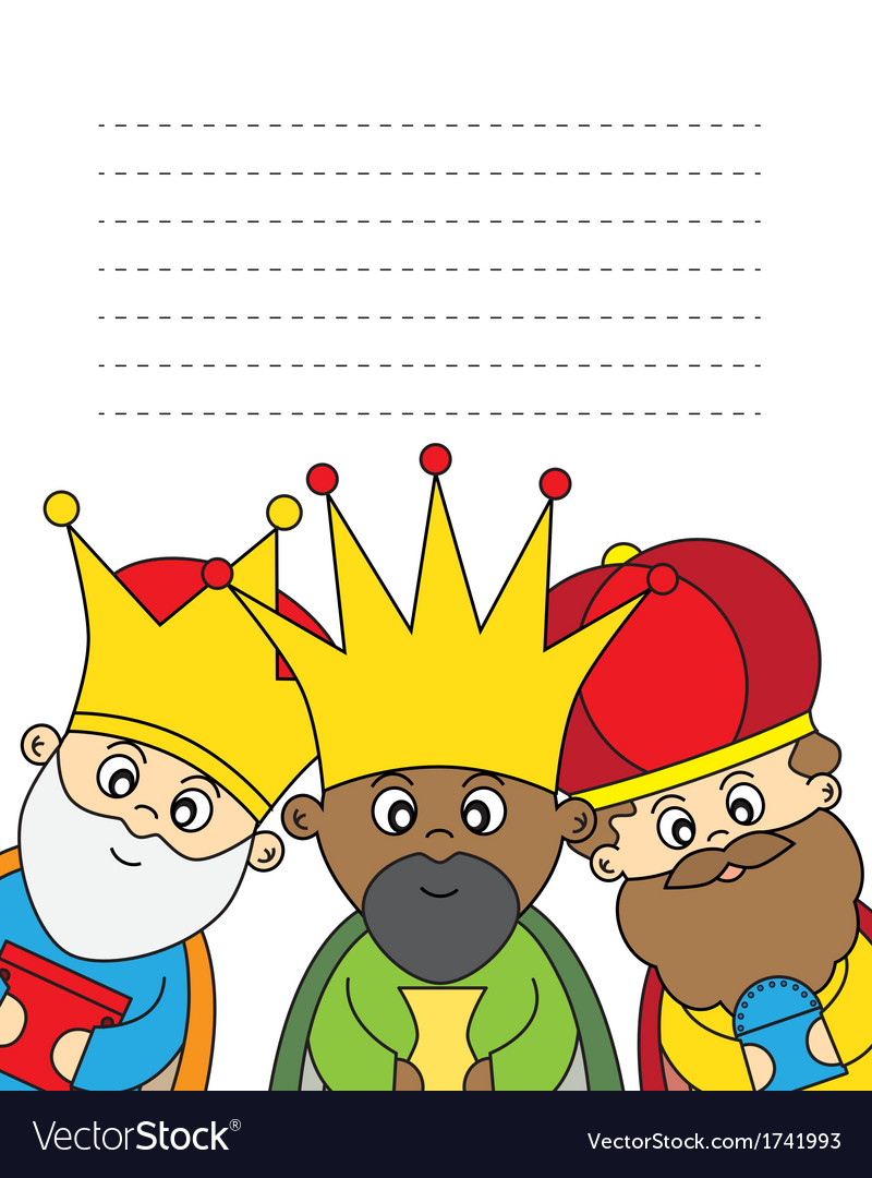 Letter to the three kings vector | Price: 1 Credit (USD $1)