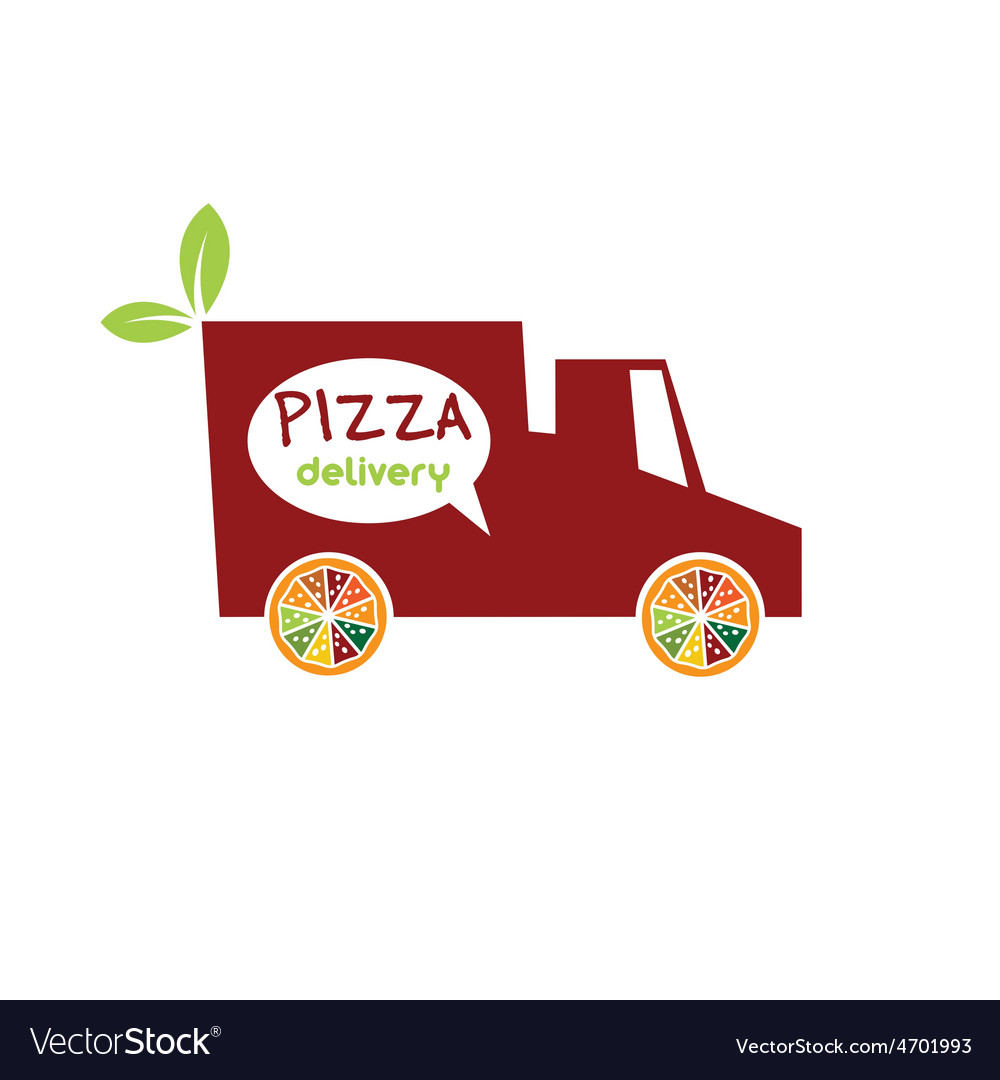 Pizza delivery truck vector | Price: 1 Credit (USD $1)