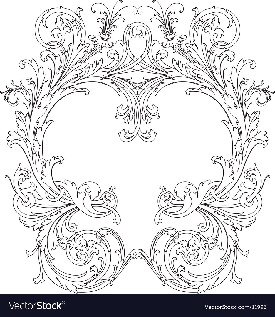 Royal ornate frame vector | Price: 1 Credit (USD $1)