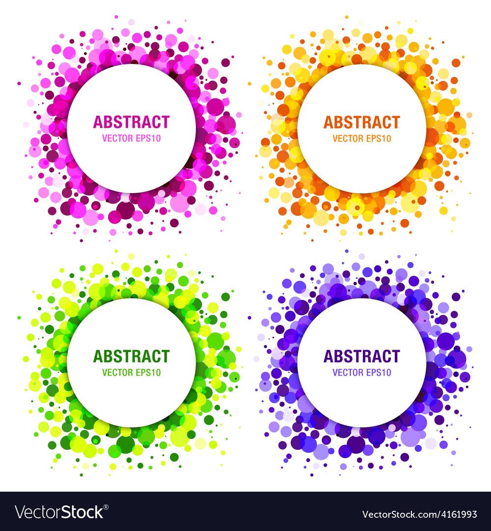 Set of bright circles frames vector | Price: 1 Credit (USD $1)