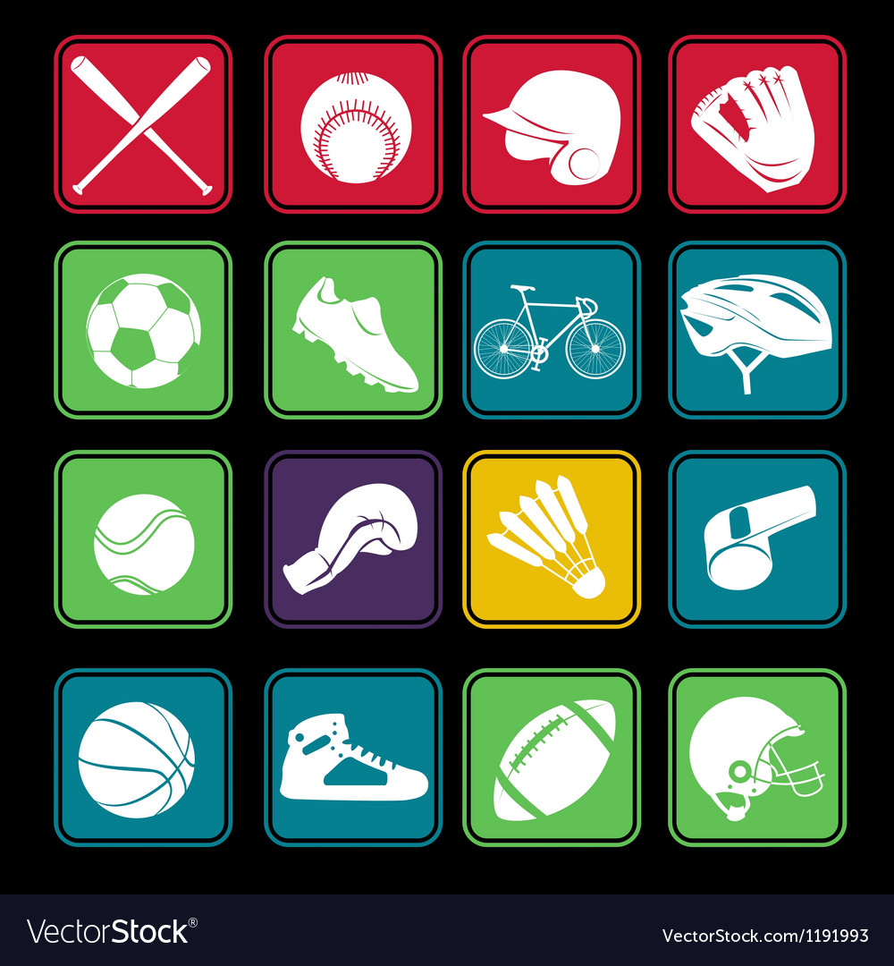 Sport icon basic style vector | Price: 1 Credit (USD $1)
