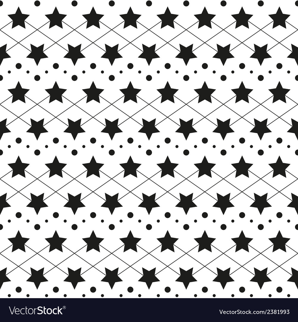 Star monochrome seamless texture vector | Price: 1 Credit (USD $1)