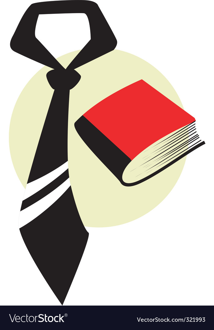Tie and book vector | Price: 1 Credit (USD $1)