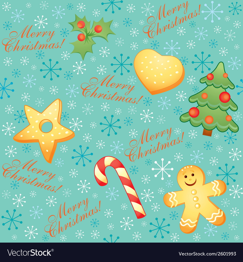 Vintage christmas seamless vector