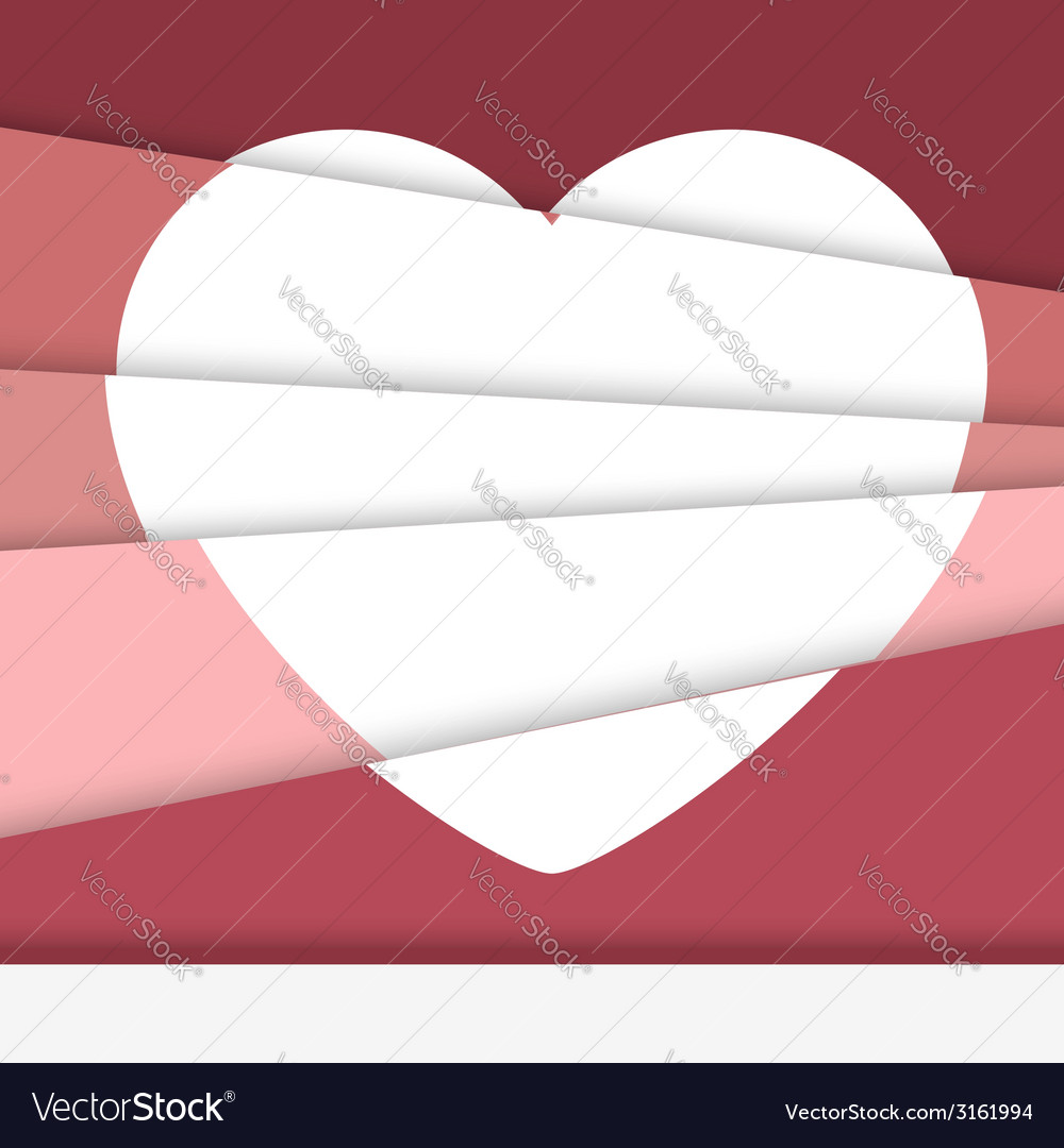 Creative valentines day card asymmetric heart vector | Price: 1 Credit (USD $1)