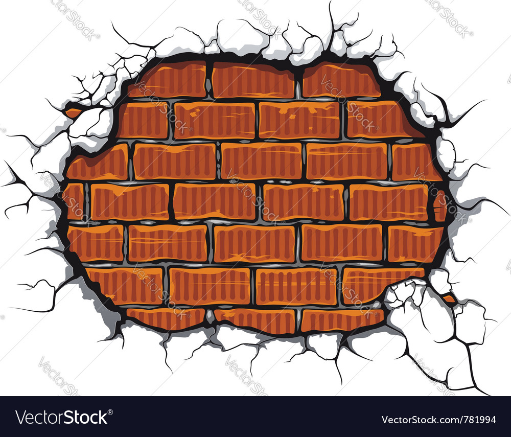 Damaged brickwall vector | Price: 1 Credit (USD $1)