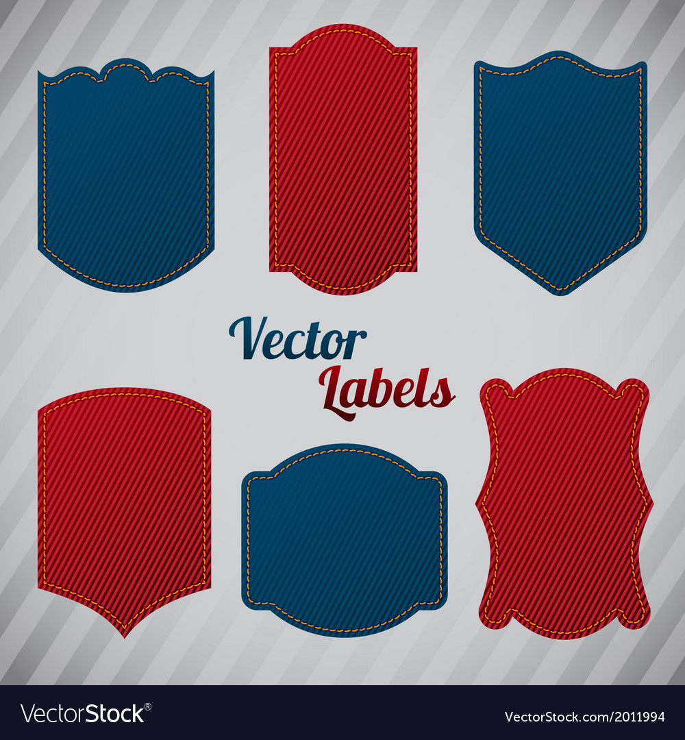 Grunge denim labels vector | Price: 1 Credit (USD $1)