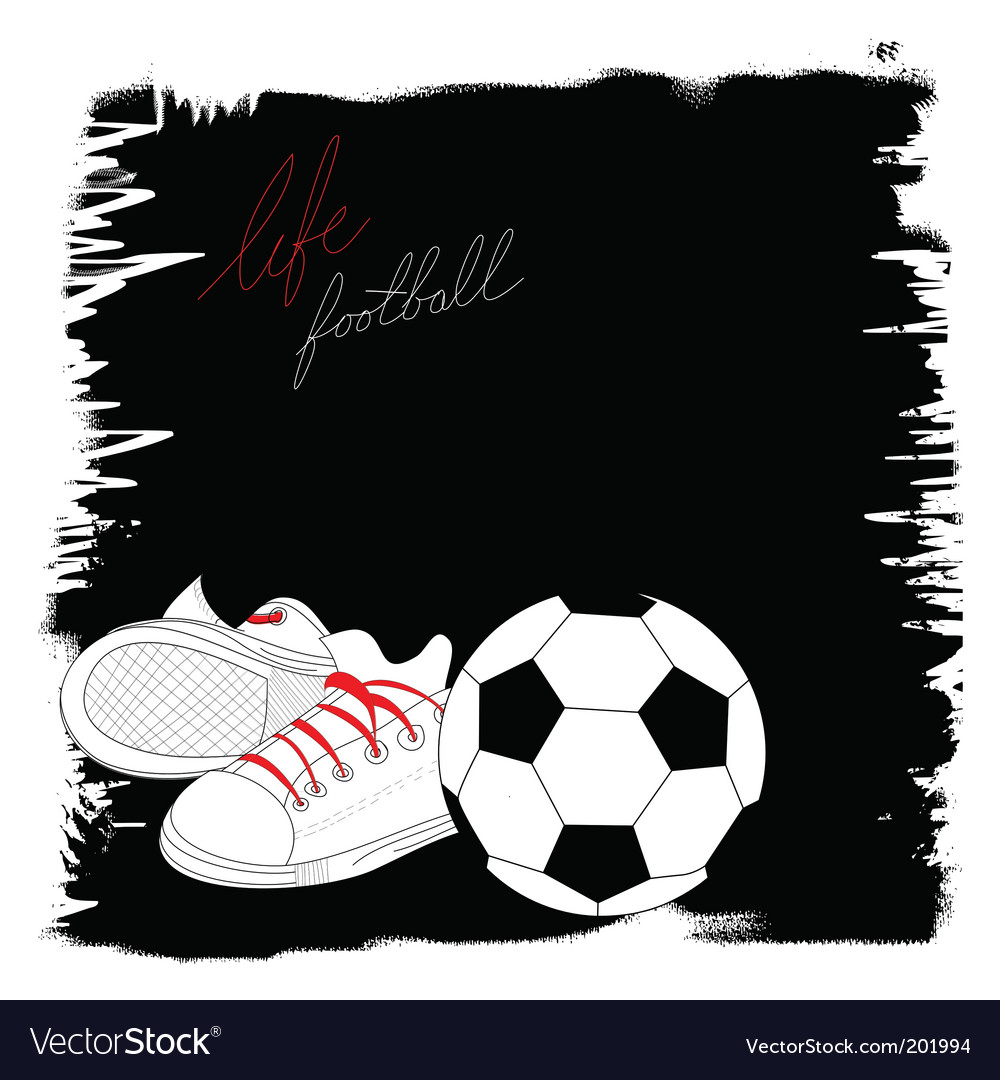 Life with football vector | Price: 1 Credit (USD $1)