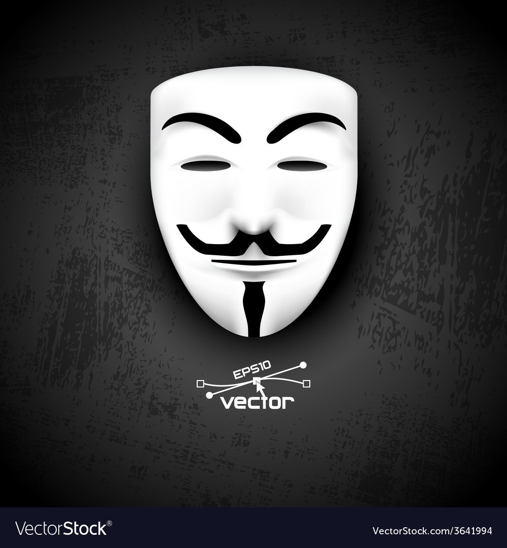Mask anonymous on black vector | Price: 1 Credit (USD $1)
