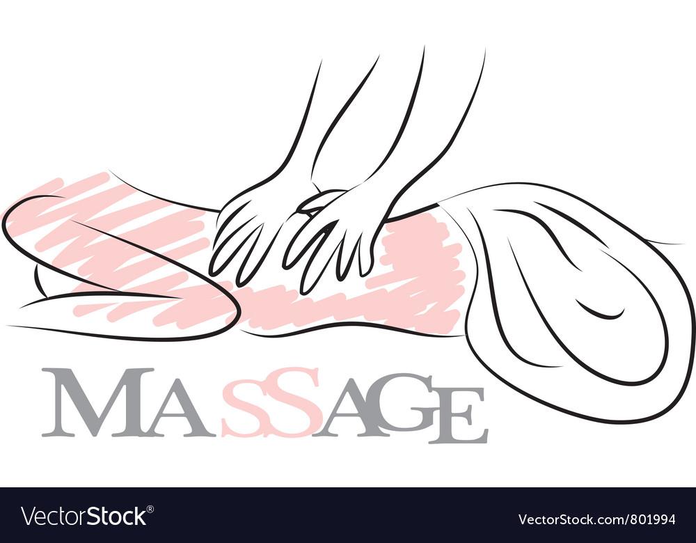 Massage logotype vector | Price: 1 Credit (USD $1)