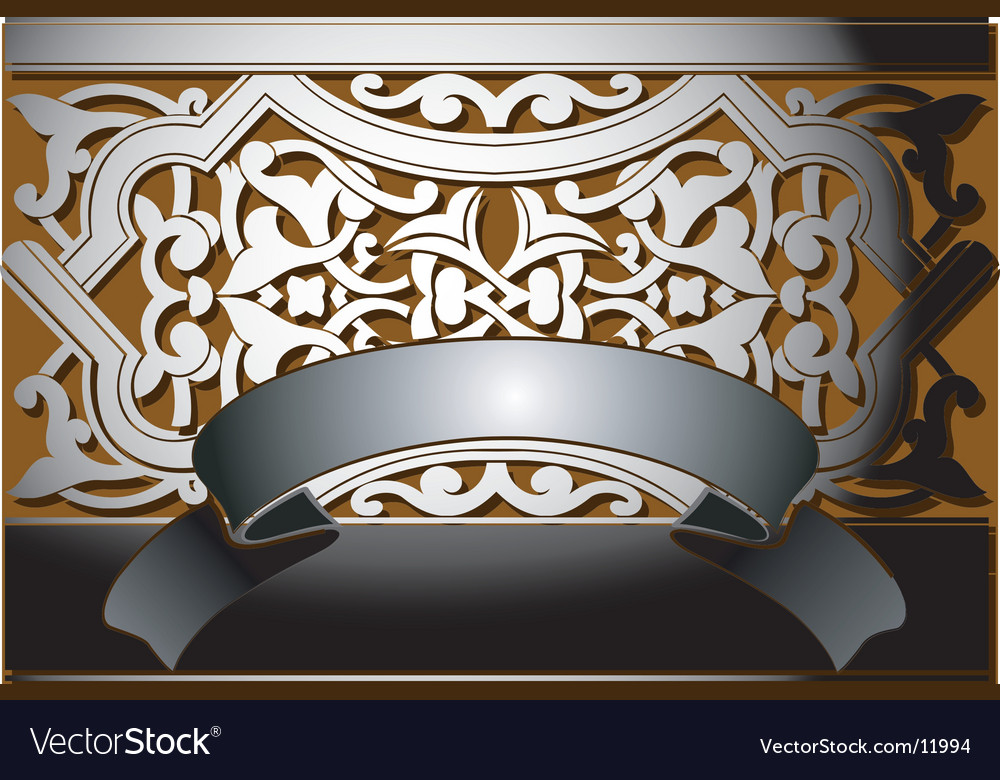 Steel banner classic style vector | Price: 1 Credit (USD $1)
