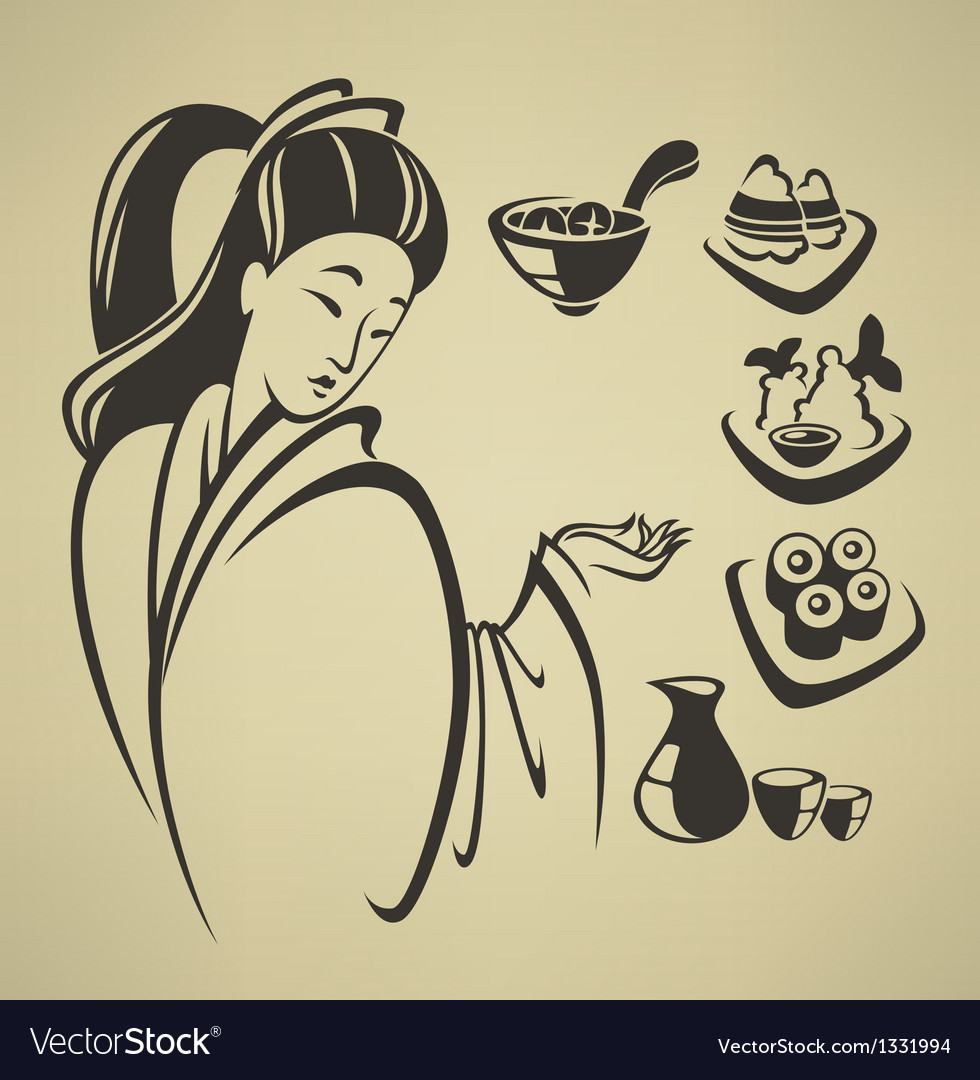 Traditional japan food vector | Price: 1 Credit (USD $1)