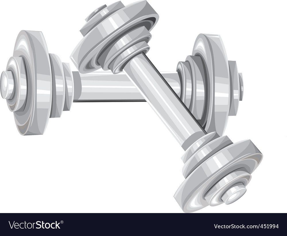 Two dumbbells vector | Price: 1 Credit (USD $1)
