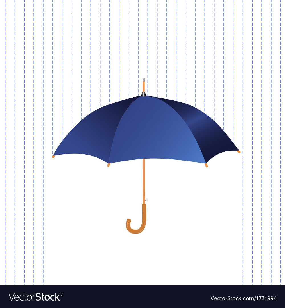 Umbrella icon with rain vector | Price: 1 Credit (USD $1)