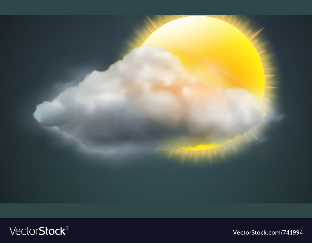 Weather icon vector | Price: 3 Credit (USD $3)