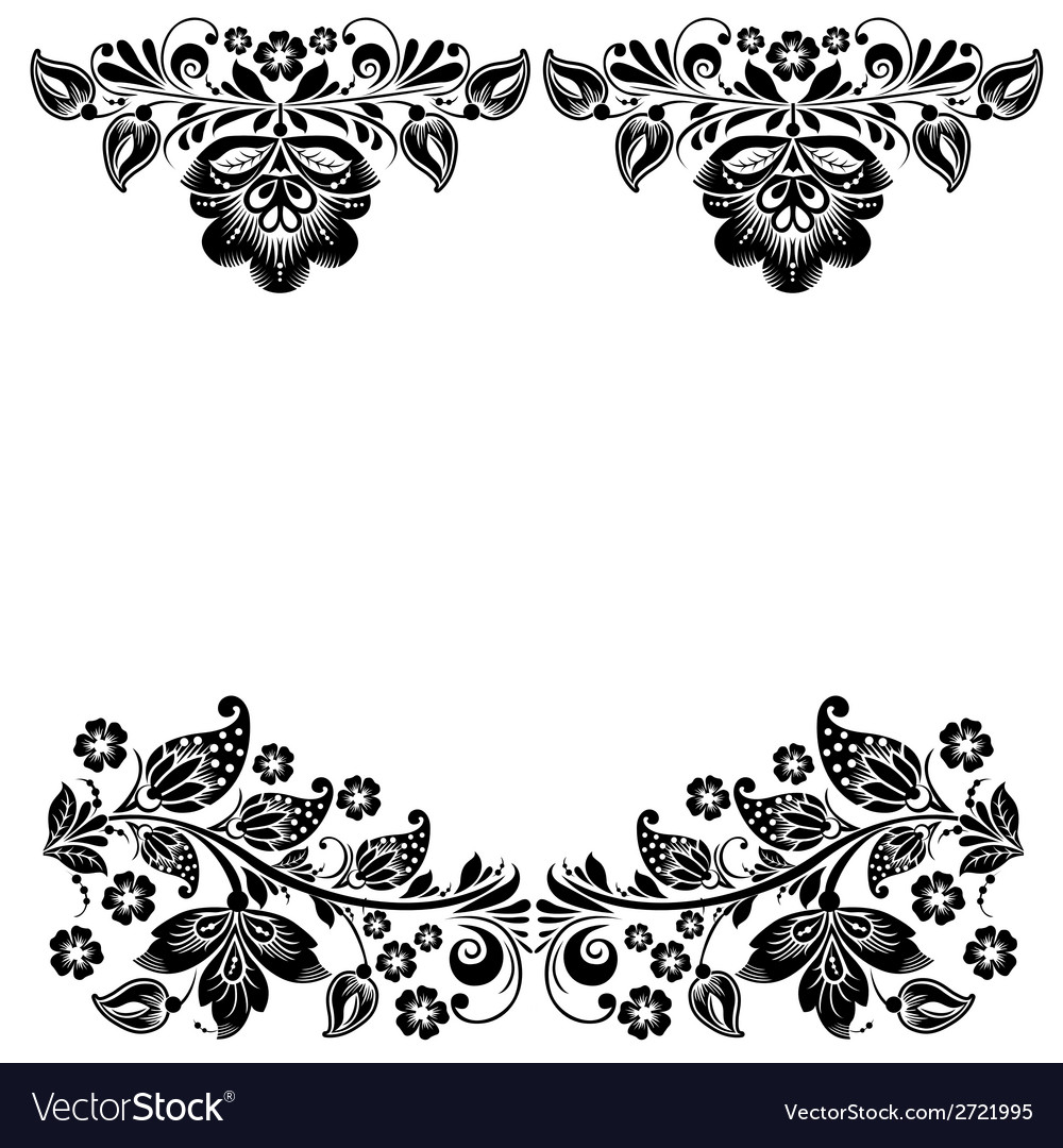 Abstract floral design elements vector | Price: 1 Credit (USD $1)
