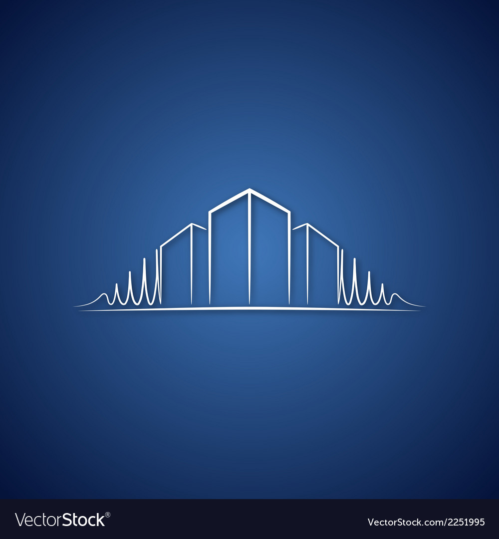 Architect logo over blue vector | Price: 1 Credit (USD $1)