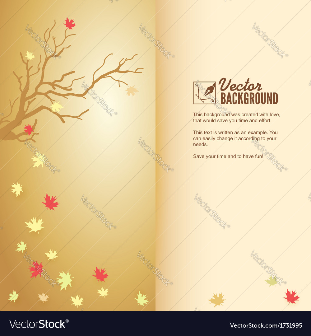 Autumn leaf fall colorful background vector   Price: 1 Credit (USD $1)