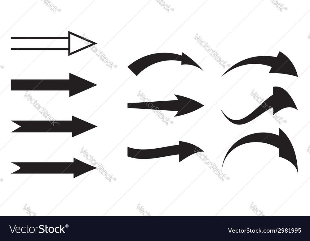 Black arrows - set vector | Price: 1 Credit (USD $1)