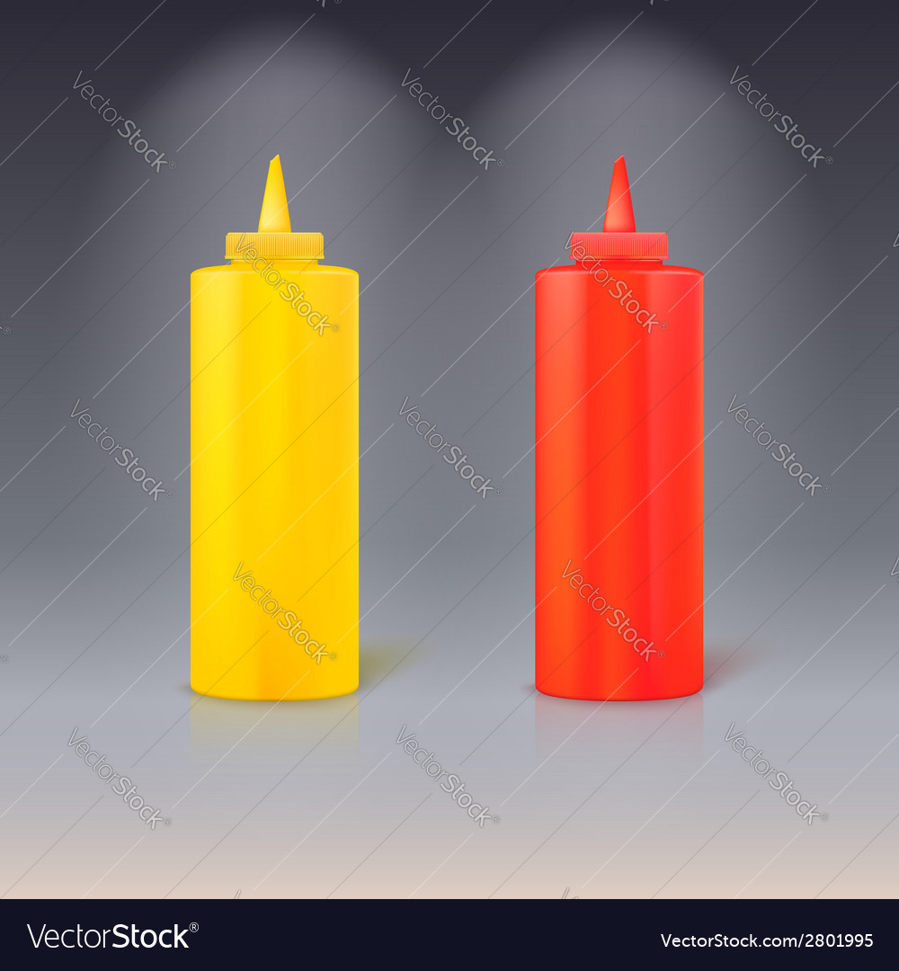 Bottles of ketchup and mustard vector | Price: 1 Credit (USD $1)