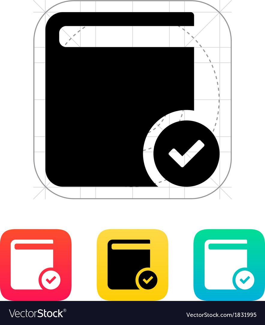 Check book icon vector | Price: 1 Credit (USD $1)