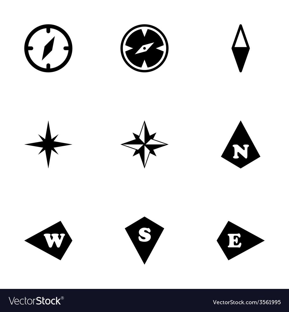 Compass icon set vector | Price: 1 Credit (USD $1)