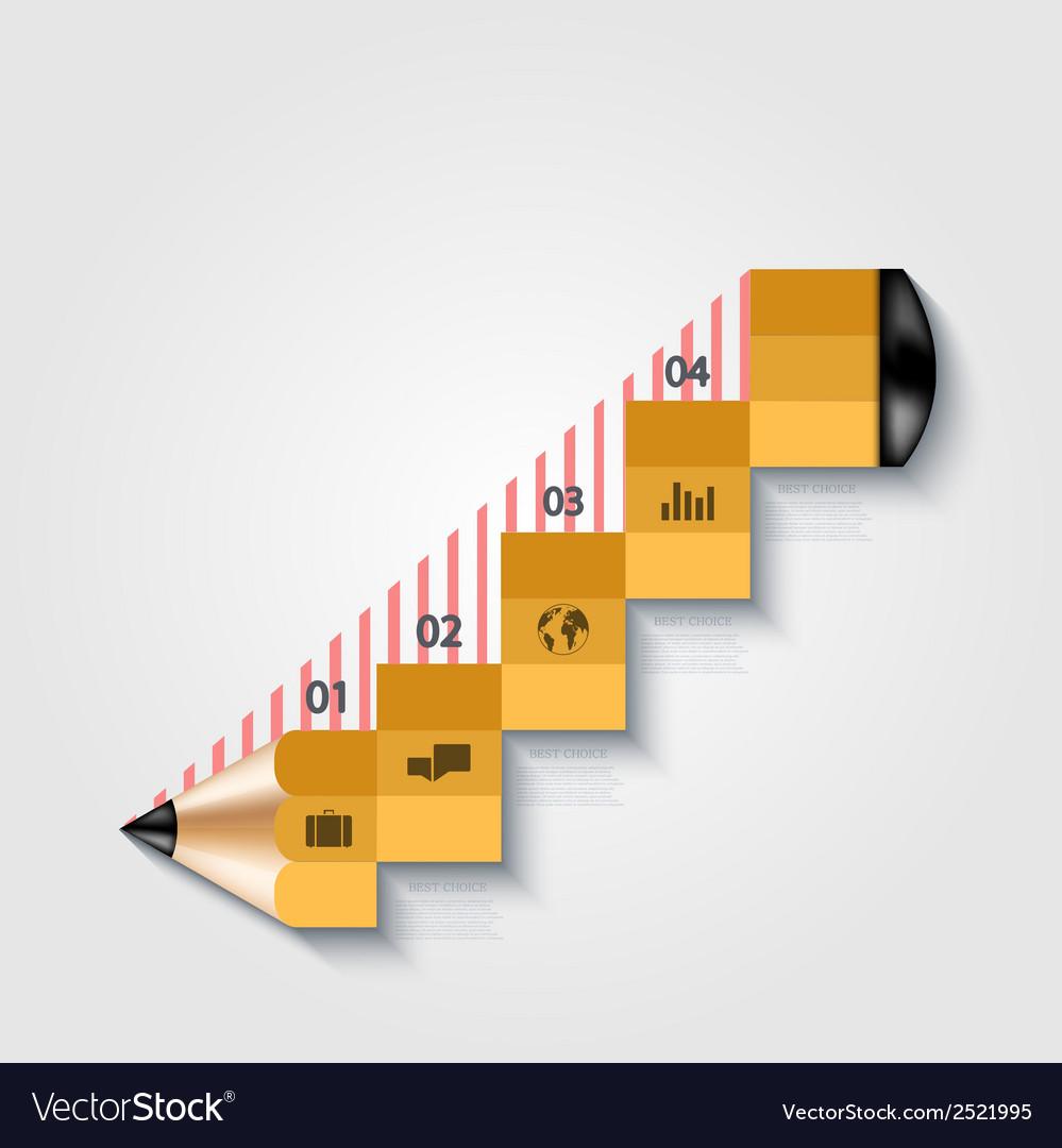 Modern pencil infographics vector   Price: 1 Credit (USD $1)