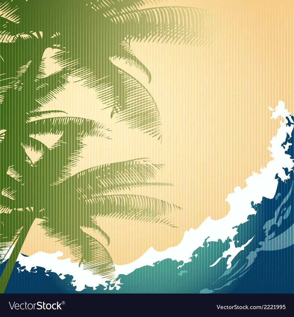 Seashore background vector | Price: 1 Credit (USD $1)