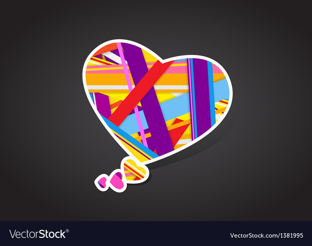 Valentines heart message bubble vector | Price: 1 Credit (USD $1)