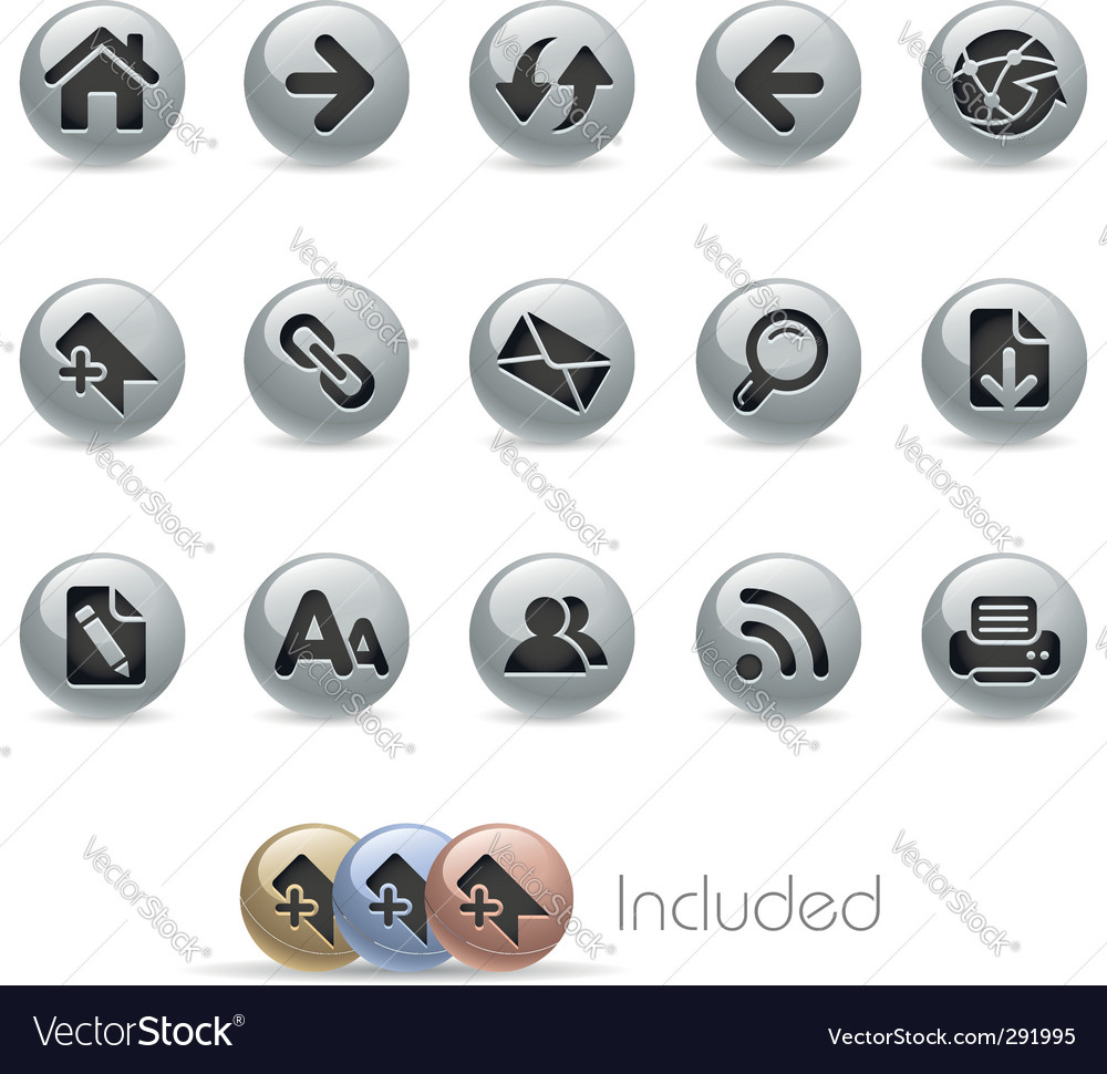 Web navigation icons vector | Price: 3 Credit (USD $3)