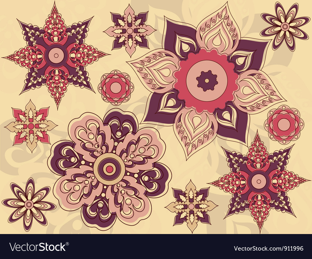 Arrangement flowers vector | Price: 1 Credit (USD $1)