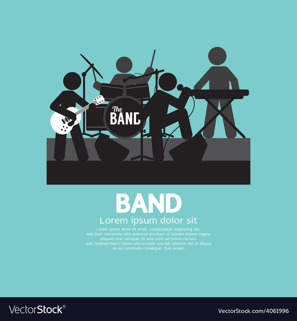 Band of musician black symbol vector | Price: 1 Credit (USD $1)
