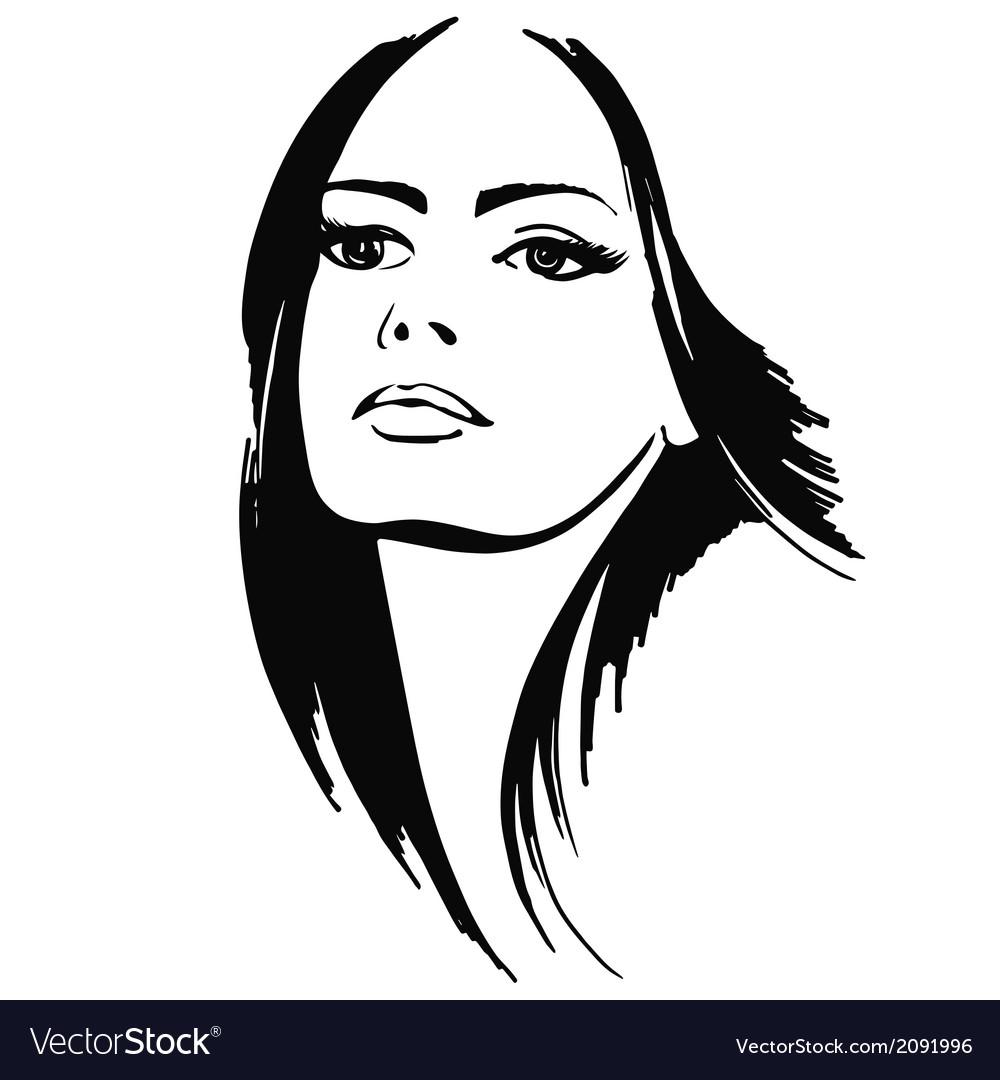 Beautiful lady vector | Price: 1 Credit (USD $1)