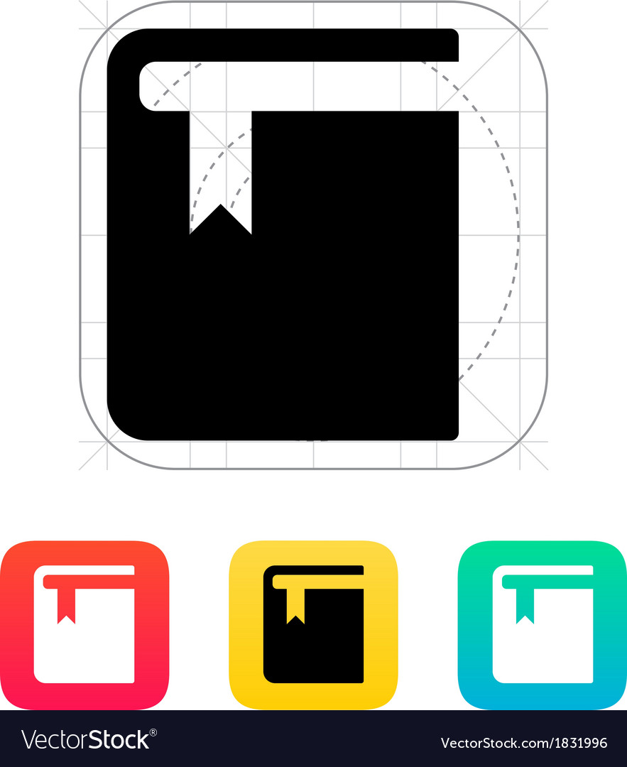 Book with bookmark icon vector   Price: 1 Credit (USD $1)