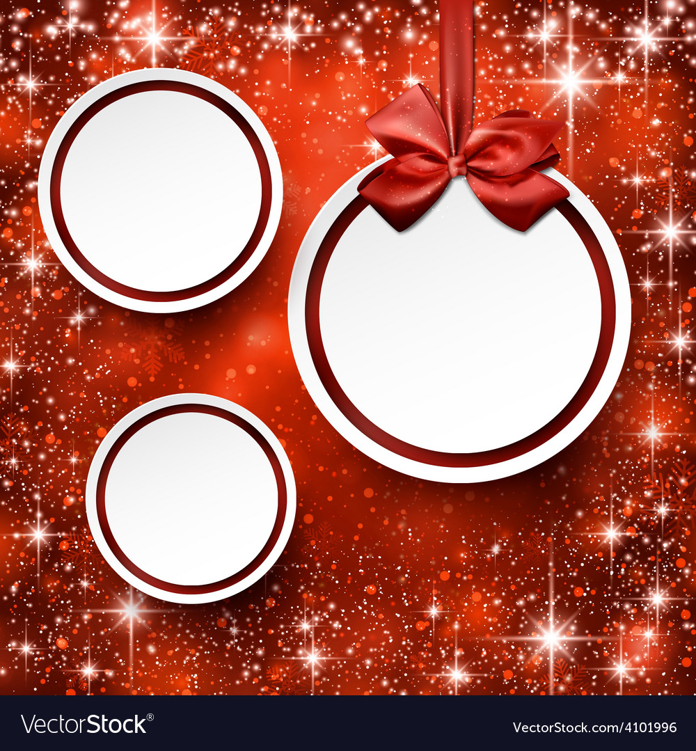 Christmas balls on red background vector | Price: 1 Credit (USD $1)